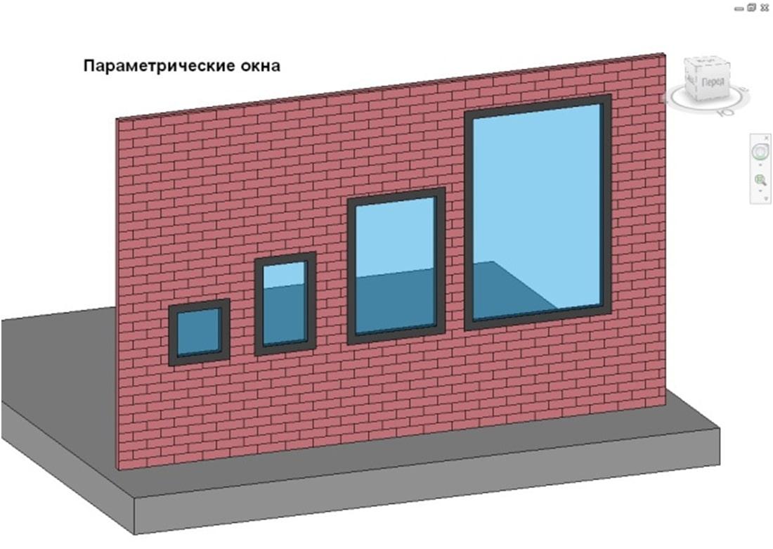 Параметричний об'єкт Вікно в Revit