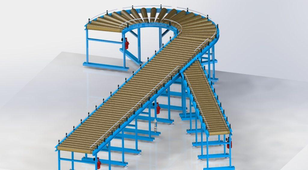 Solidworks – модель конвейера