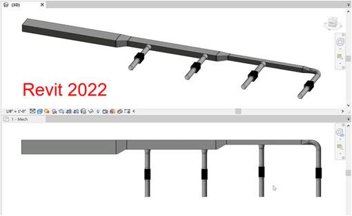 Деталювання повітроводу для виробництва в Revit 2022