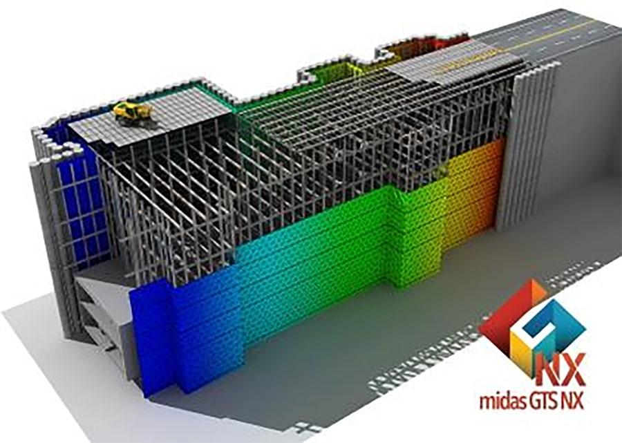 midas GTS NX для розрахунку фундаментів, котлованів та тунелів
