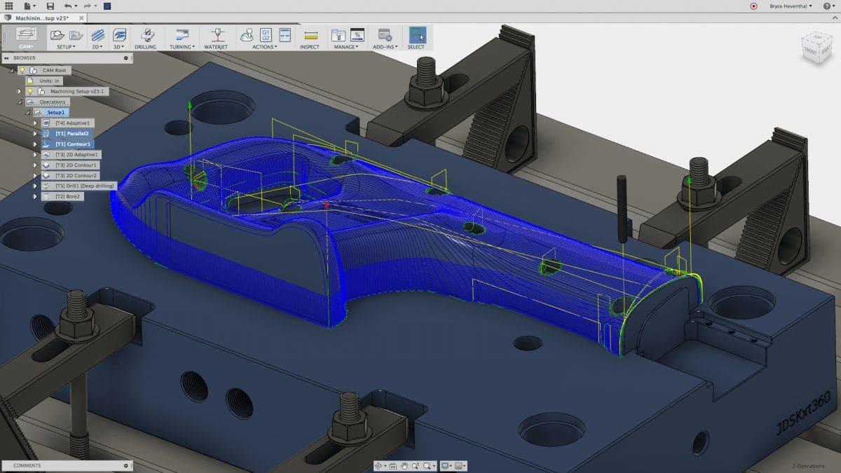 Симуляція CAM обробки в Autodesk Fusion 360
